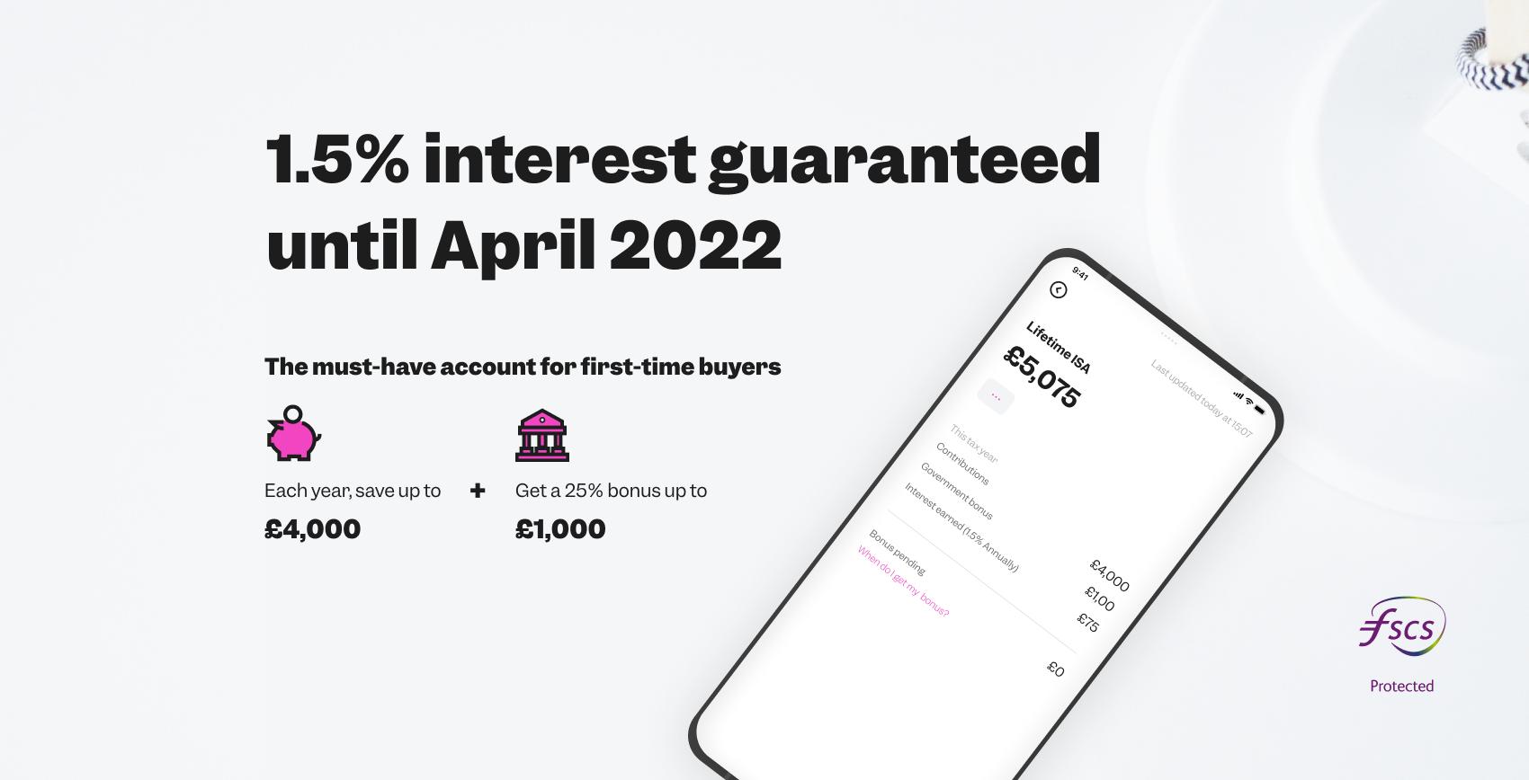 1.5% interest guaranteed until April 2022