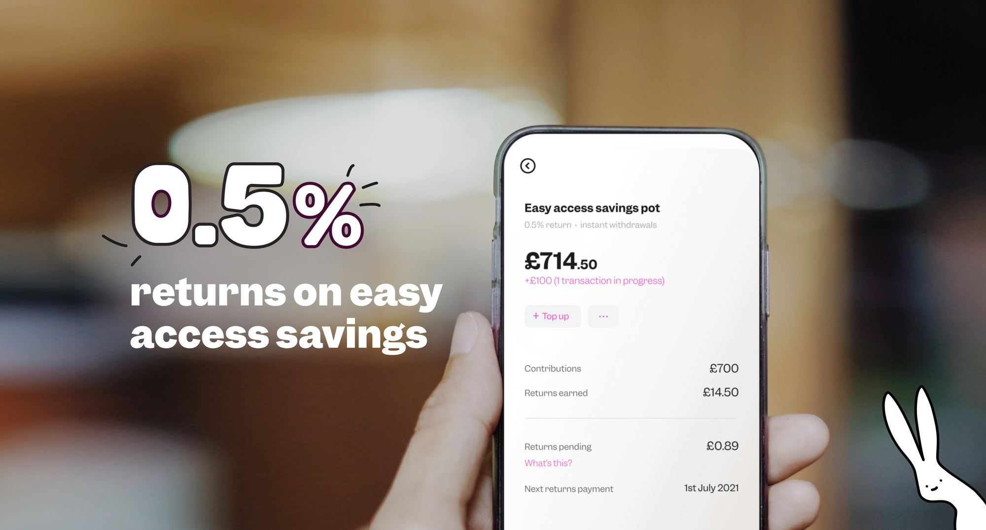 Get 0.5% on easy access savings