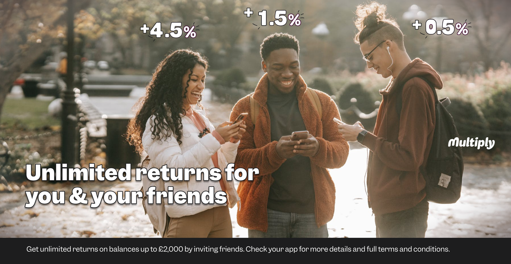 Unlimited returns on your savings